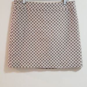 LOFT A- Line Mini Skirt, Lattė Dot Sz 8